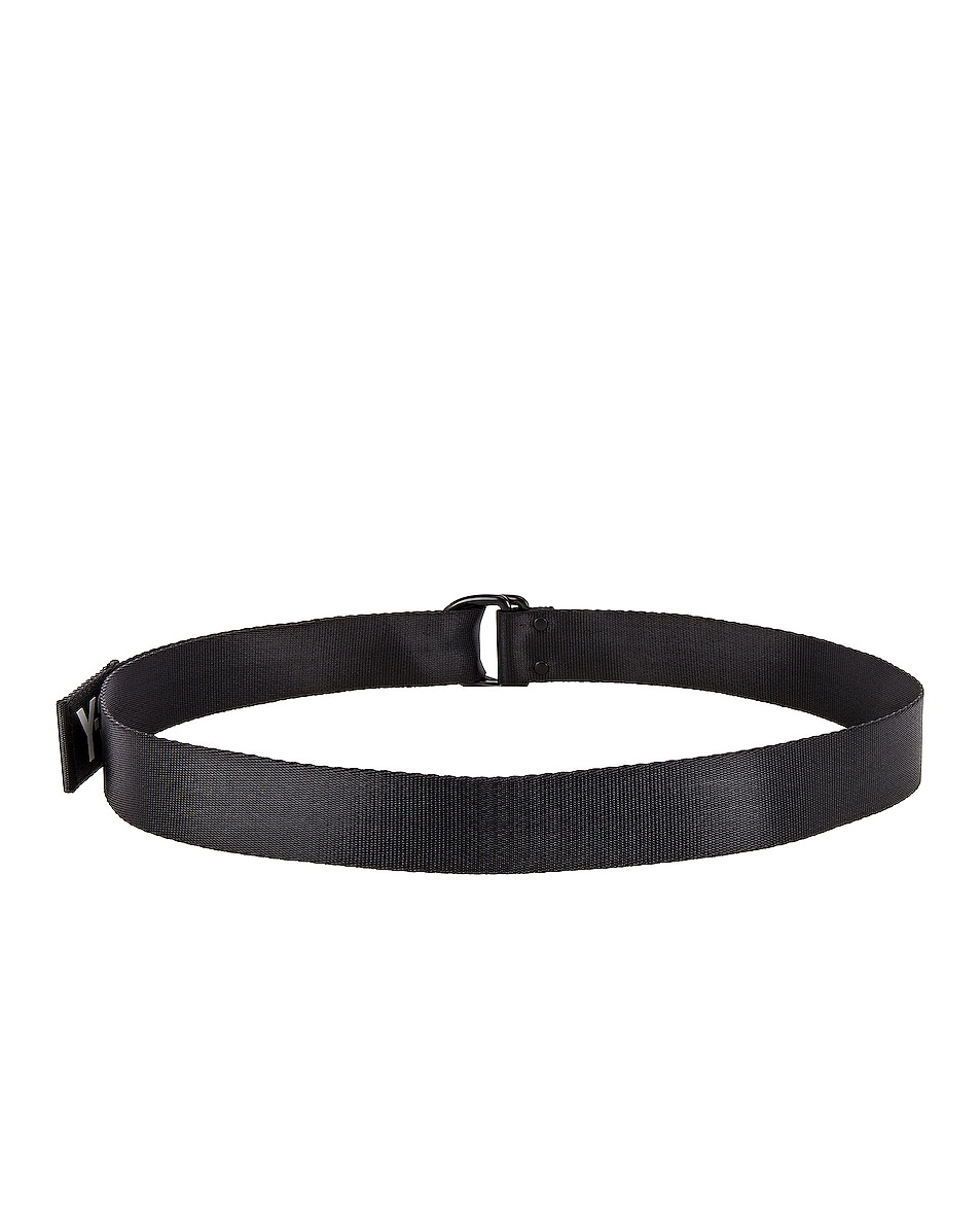 Image 2 of Y-3 Yohji Yamamoto Logo Belt in Black