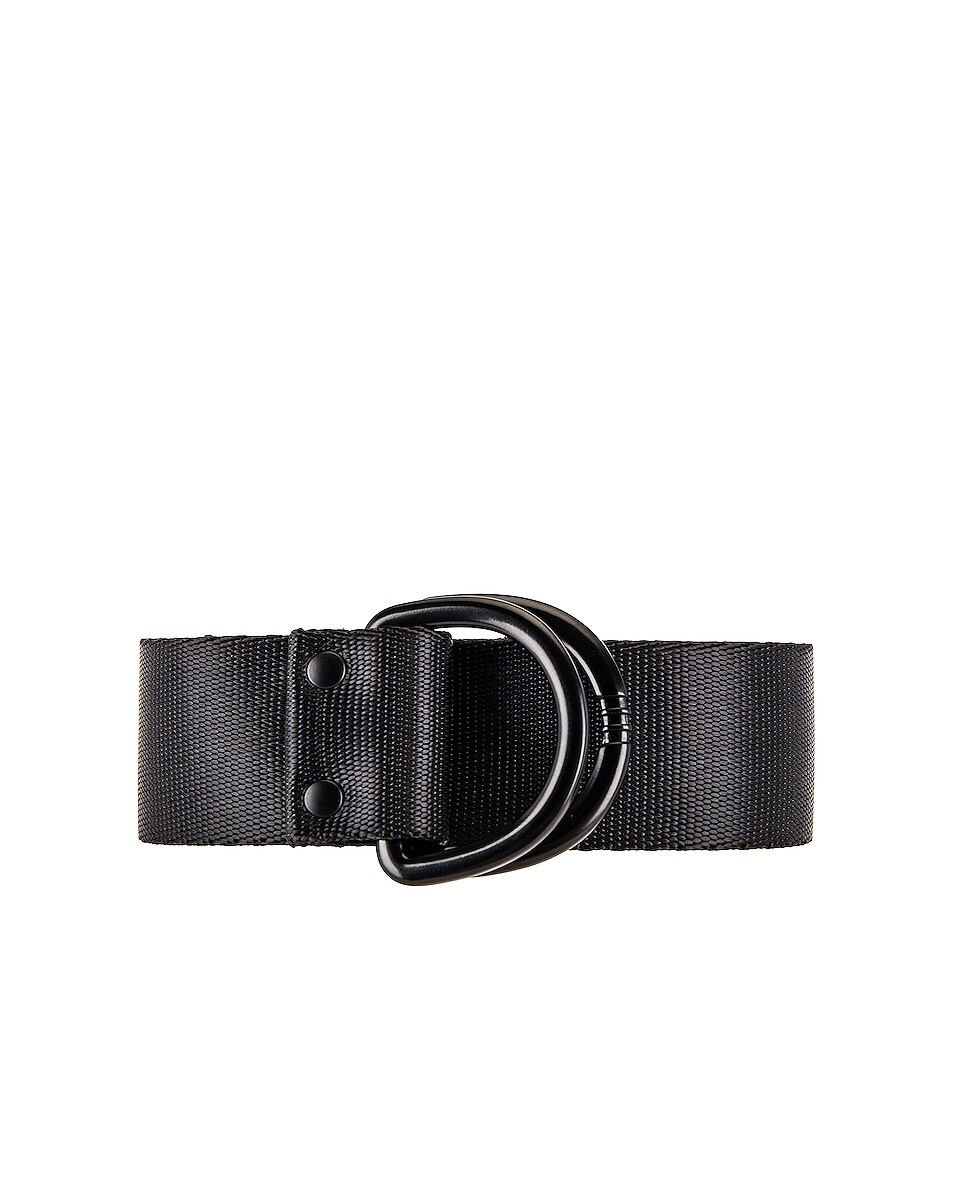 Image 3 of Y-3 Yohji Yamamoto Logo Belt in Black