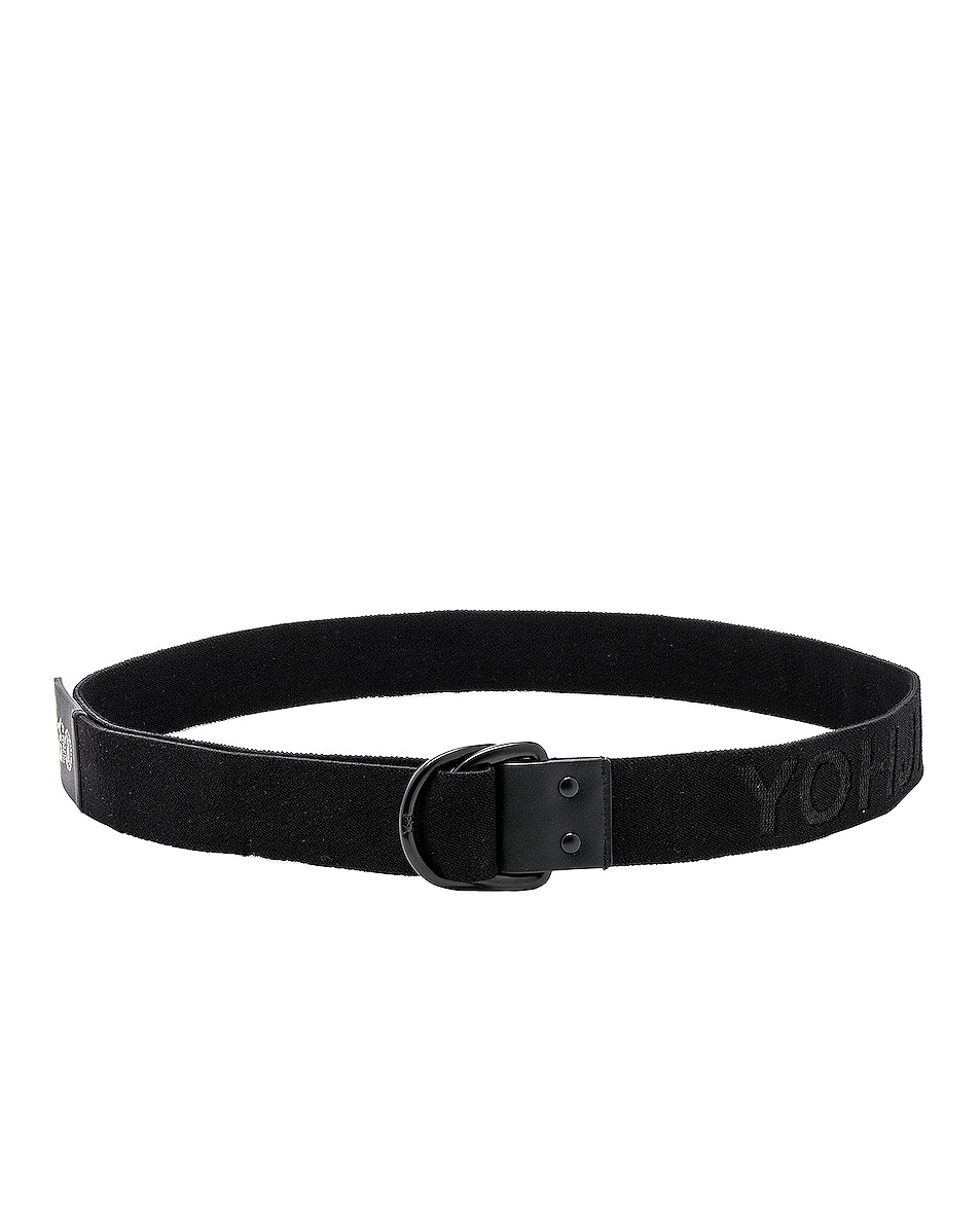 Image 2 of Y-3 Yohji Yamamoto Elastic Belt in Black