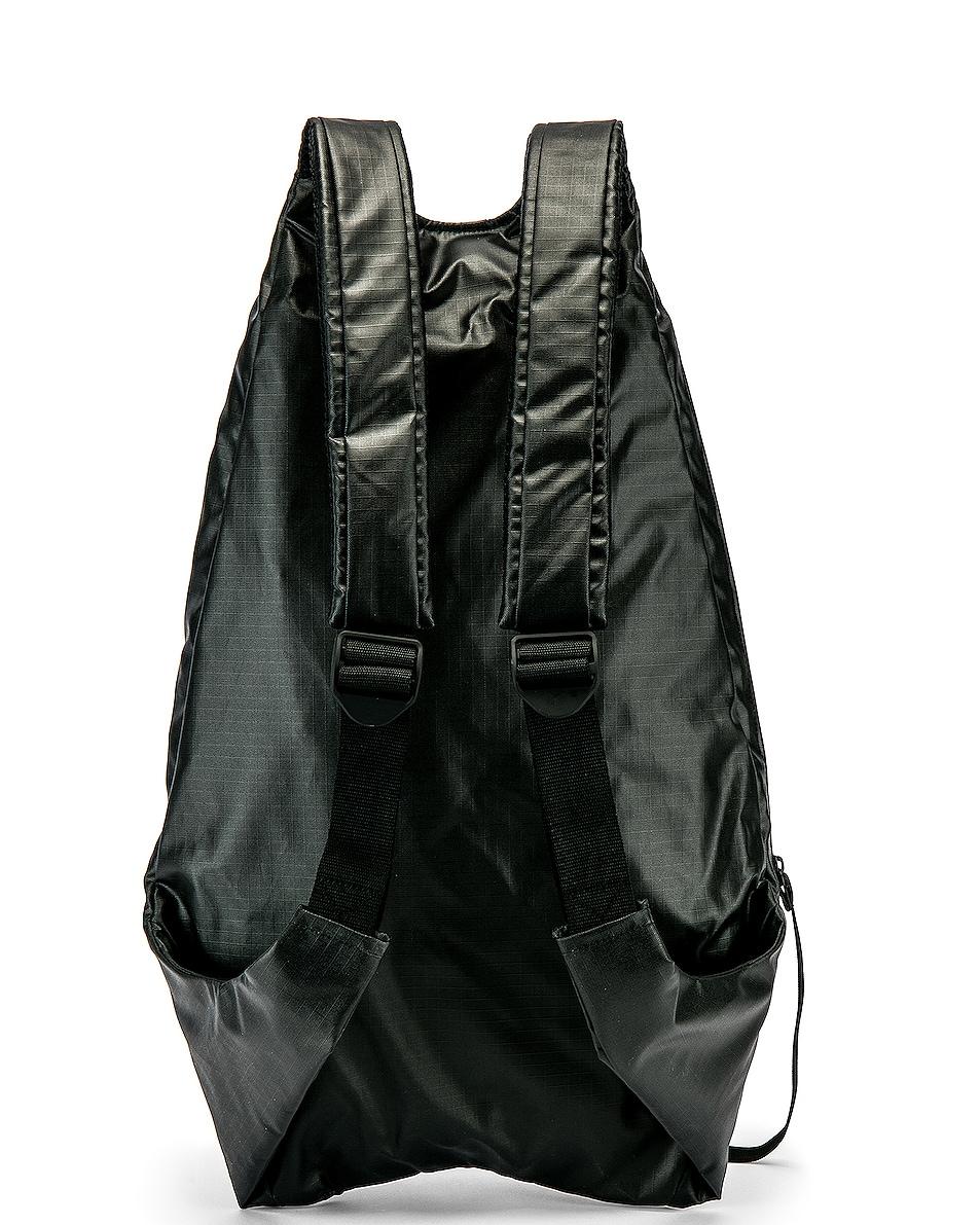 Image 2 of Y-3 Yohji Yamamoto Logo Backpack in Black & White