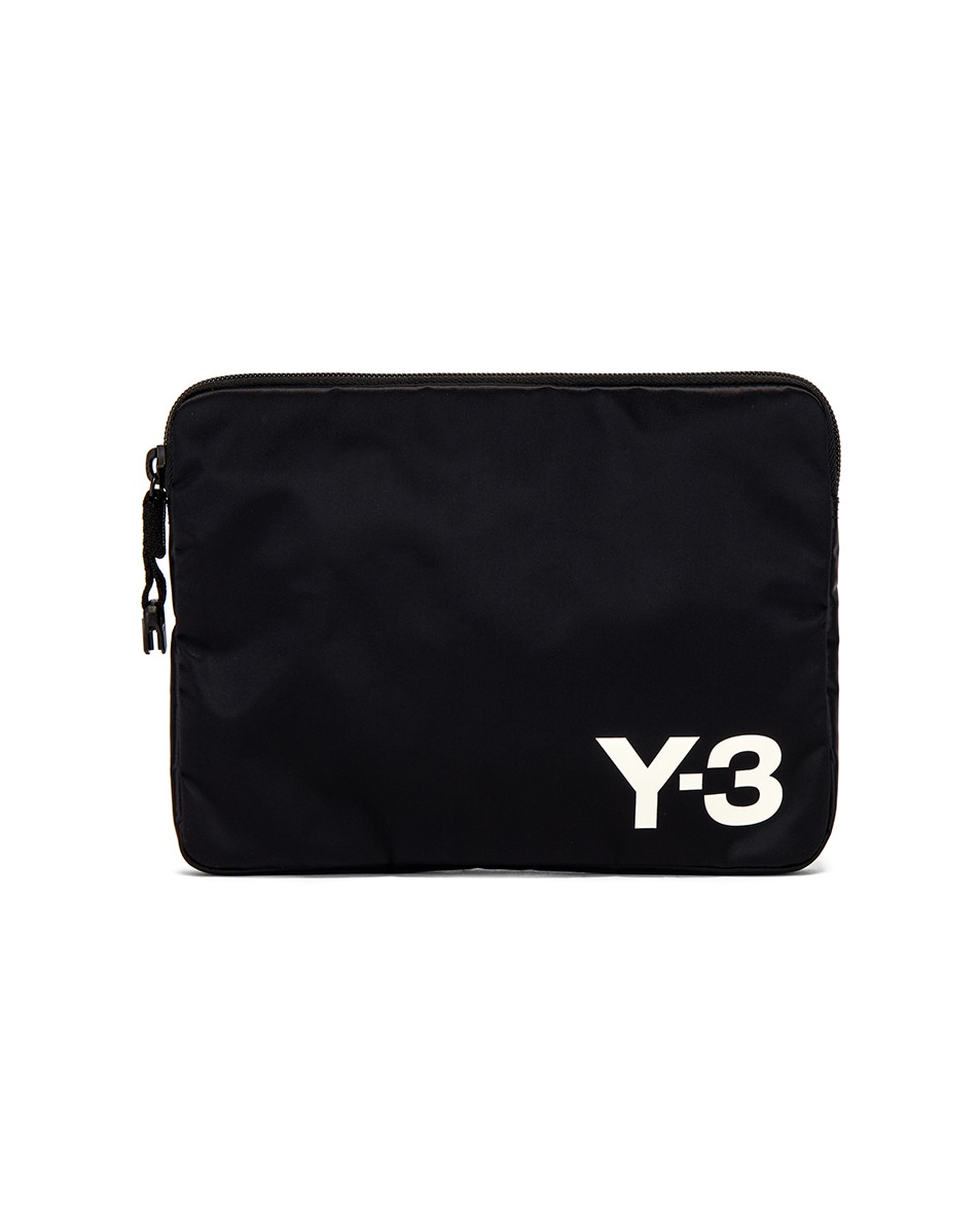 Image 1 of Y-3 Yohji Yamamoto Pouch in Black