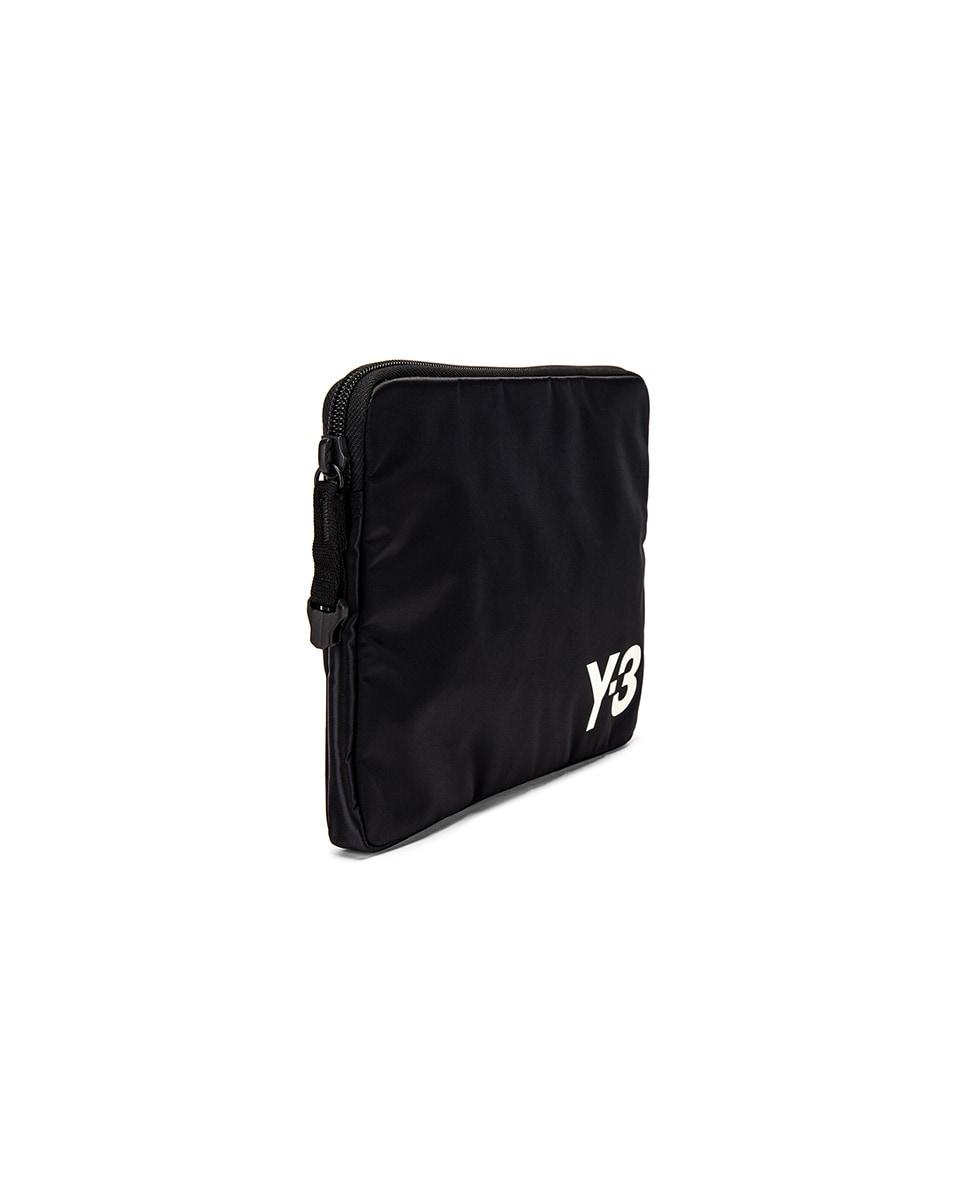 Image 3 of Y-3 Yohji Yamamoto Pouch in Black