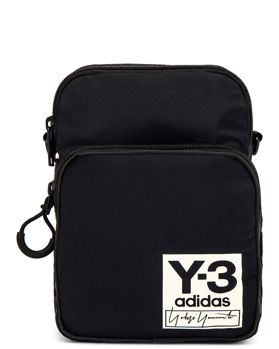 Image 1 of Y-3 Yohji Yamamoto Packable Airliner in Off White & Black