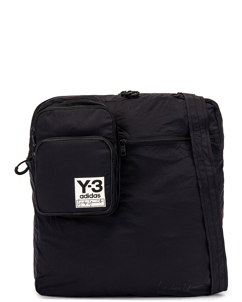 Image 4 of Y-3 Yohji Yamamoto Packable Airliner in Off White & Black