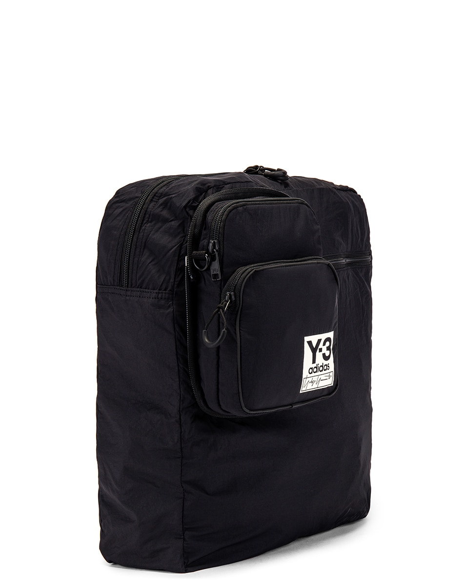 Image 6 of Y-3 Yohji Yamamoto Packable Airliner in Off White & Black