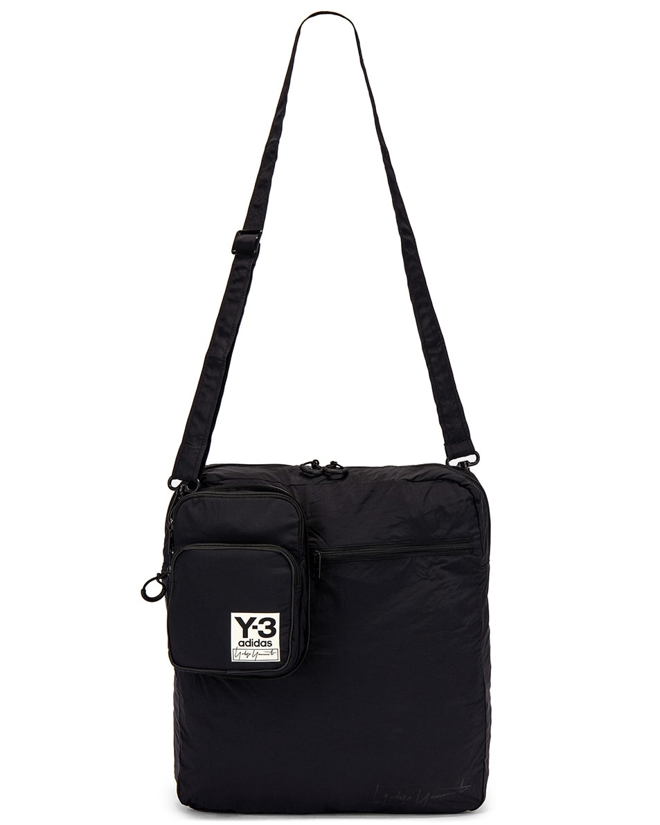 Image 8 of Y-3 Yohji Yamamoto Packable Airliner in Off White & Black