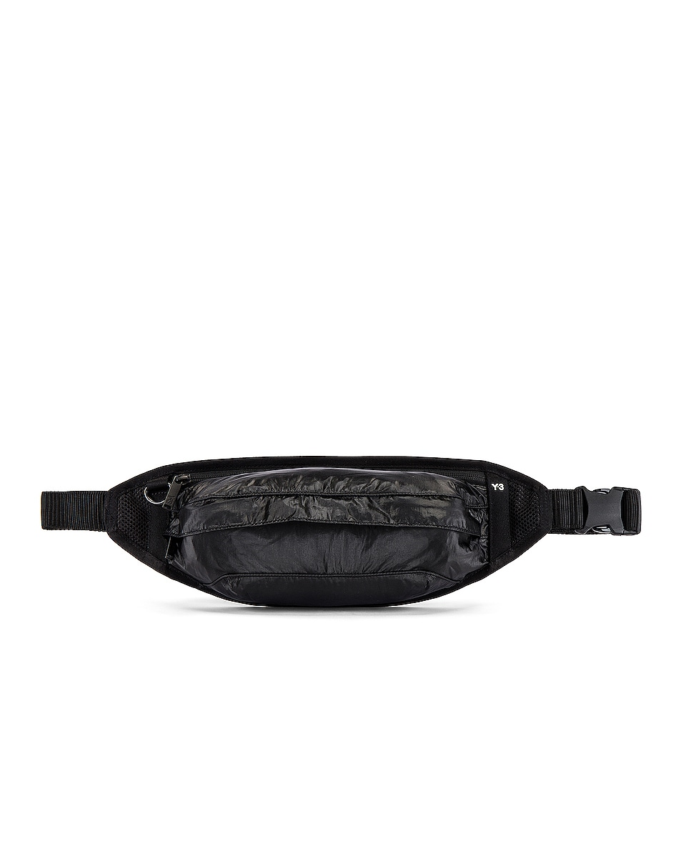 Image 1 of Y-3 Yohji Yamamoto Waistpack in Black & Core White