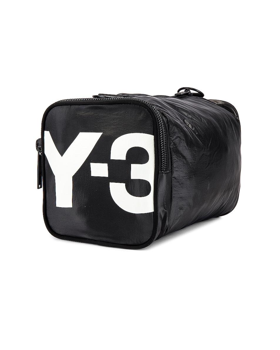 Image 1 of Y-3 Yohji Yamamoto Mini Gymbag in Black & Core White