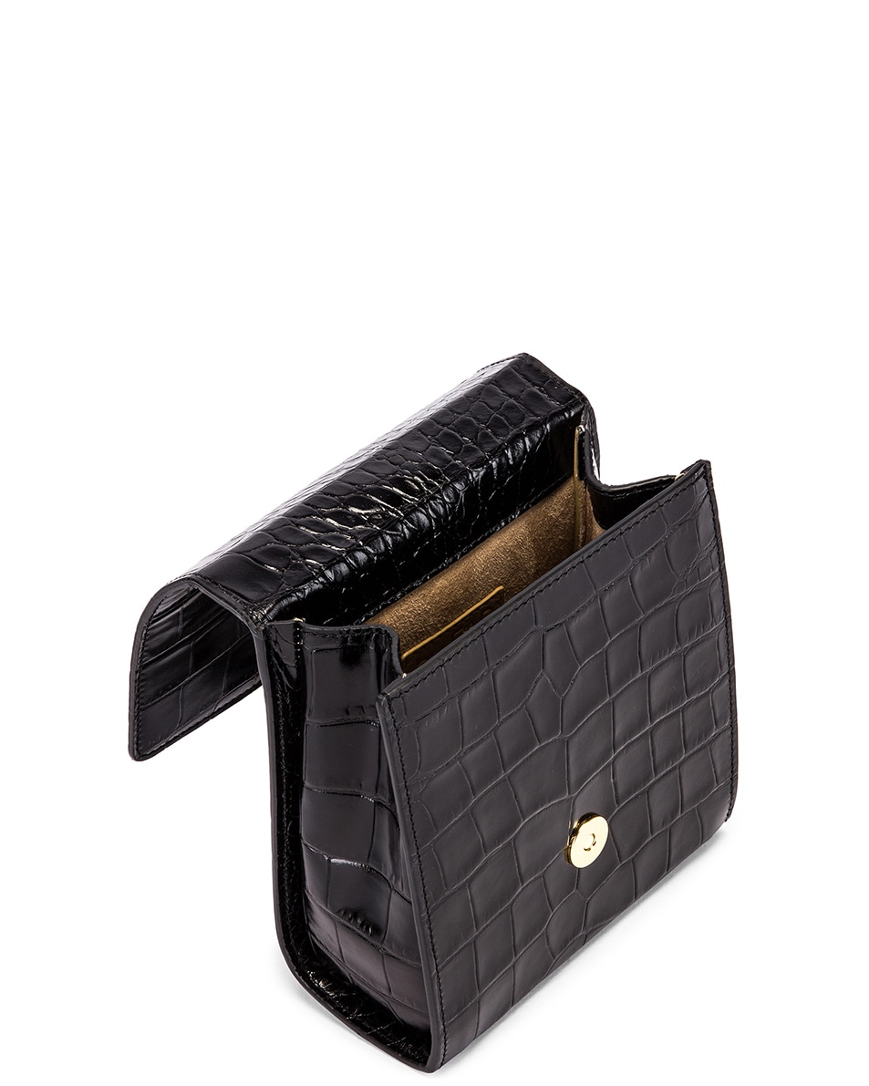 Image 5 of BY FAR Ball Croco Embossed Bag in Black