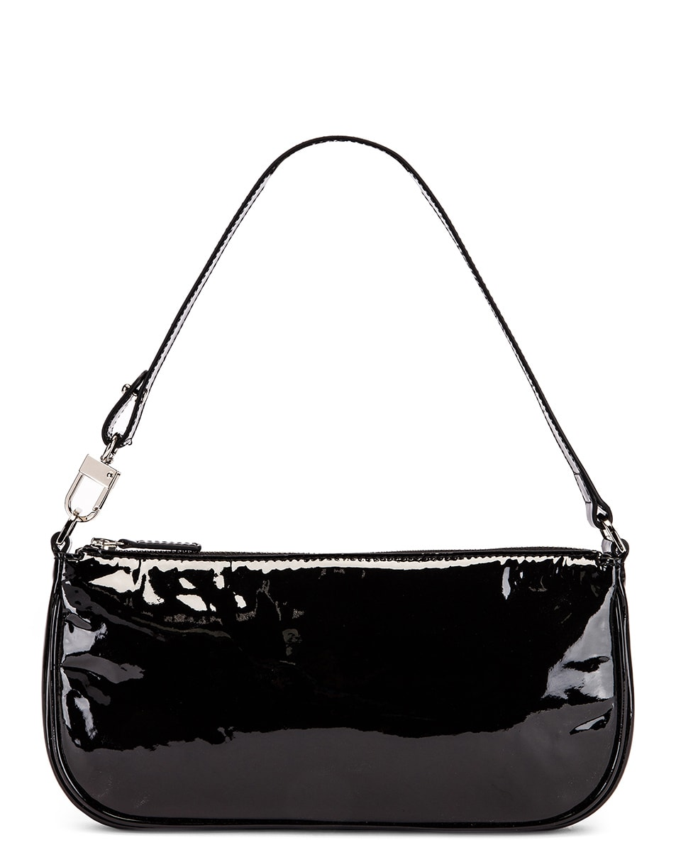 Image 2 of By Far Rachel Patent Leather Bag in Black