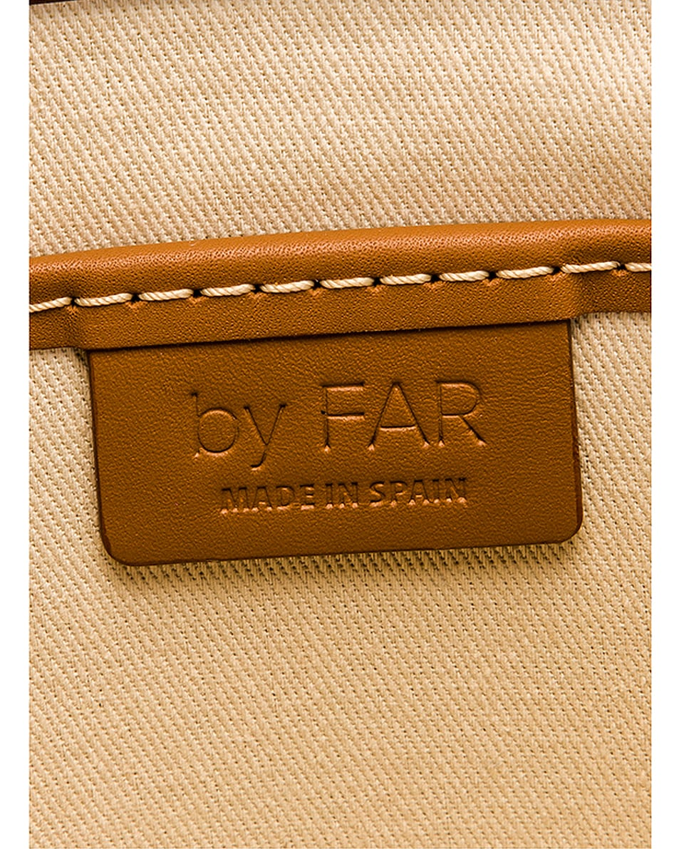 Image 6 of BY FAR Fiona Leather Top Handle Bag in Chocolate