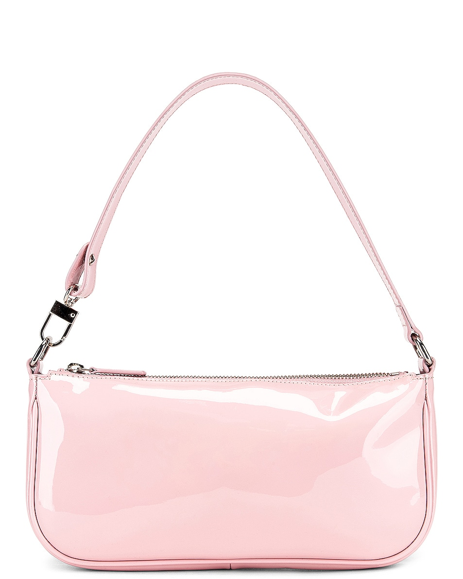 Image 1 of BY FAR Rachel Patent Leather Shoulder Bag in Baby Pink