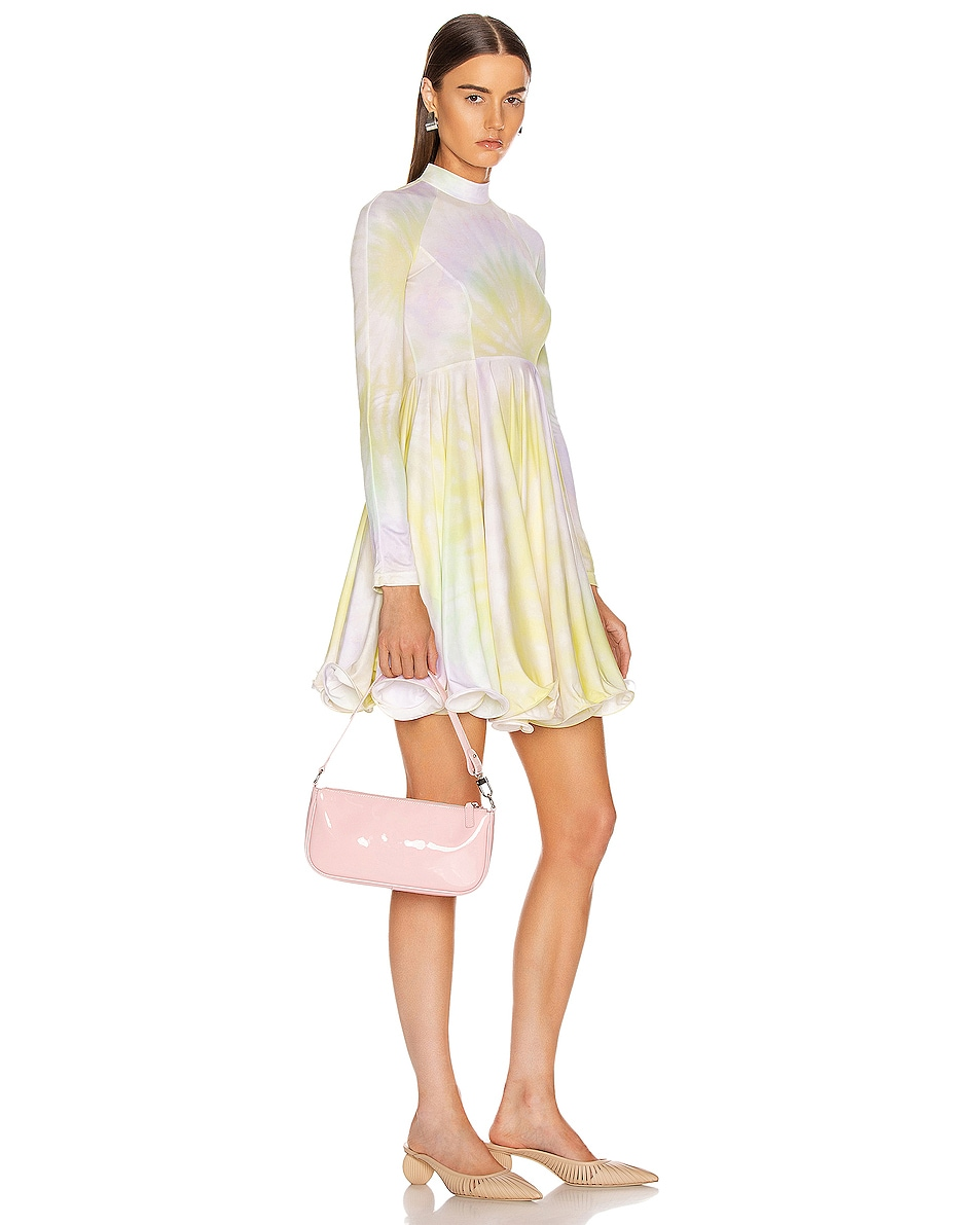 Image 2 of BY FAR Rachel Patent Leather Shoulder Bag in Baby Pink