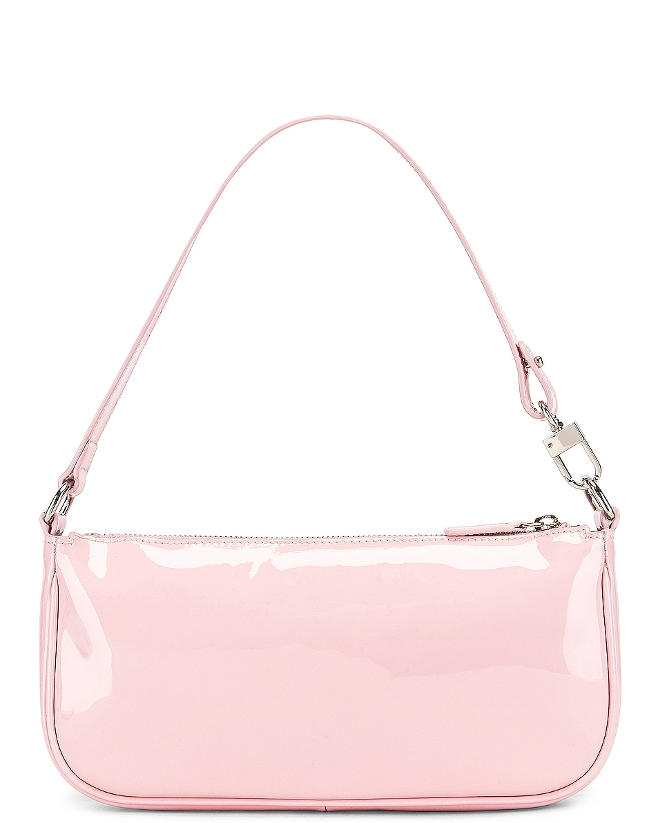 Image 3 of BY FAR Rachel Patent Leather Shoulder Bag in Baby Pink
