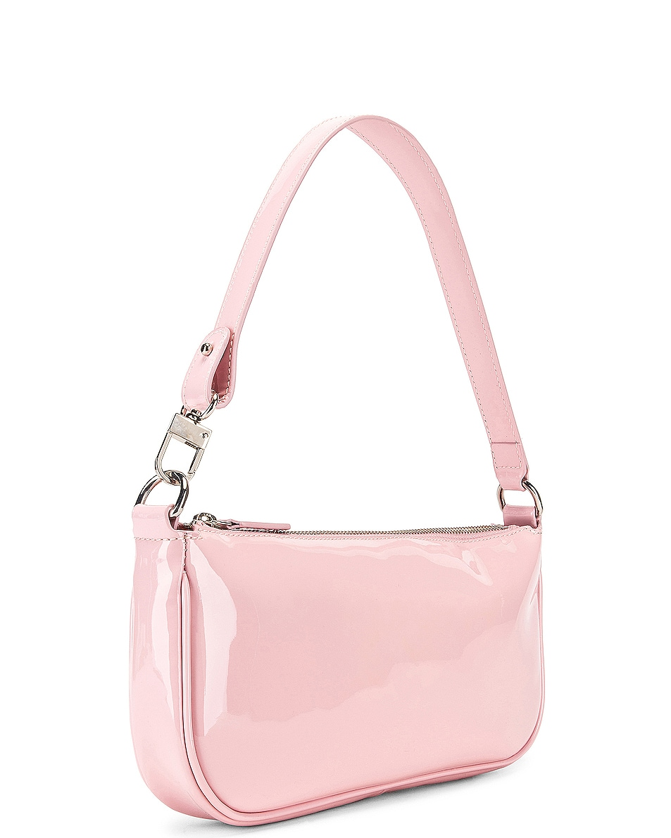 Image 4 of BY FAR Rachel Patent Leather Shoulder Bag in Baby Pink