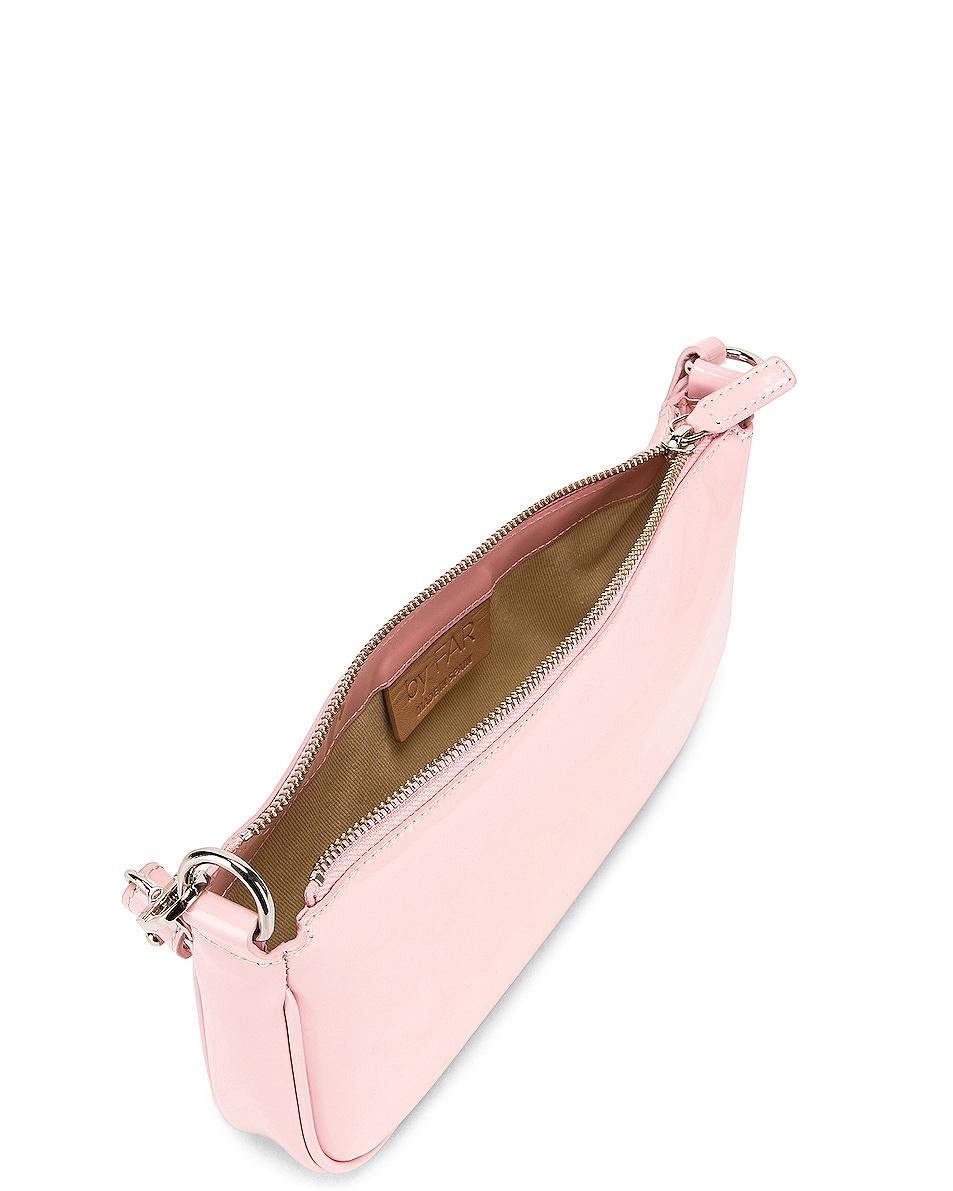Image 5 of BY FAR Rachel Patent Leather Shoulder Bag in Baby Pink