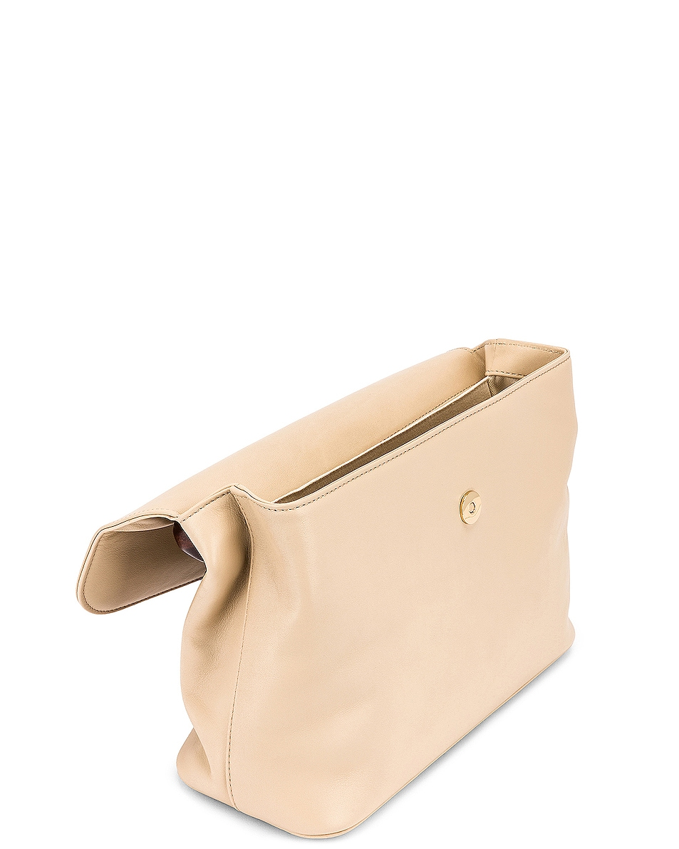 Image 5 of BY FAR Fiona Leather Top Handle Bag in Ivory