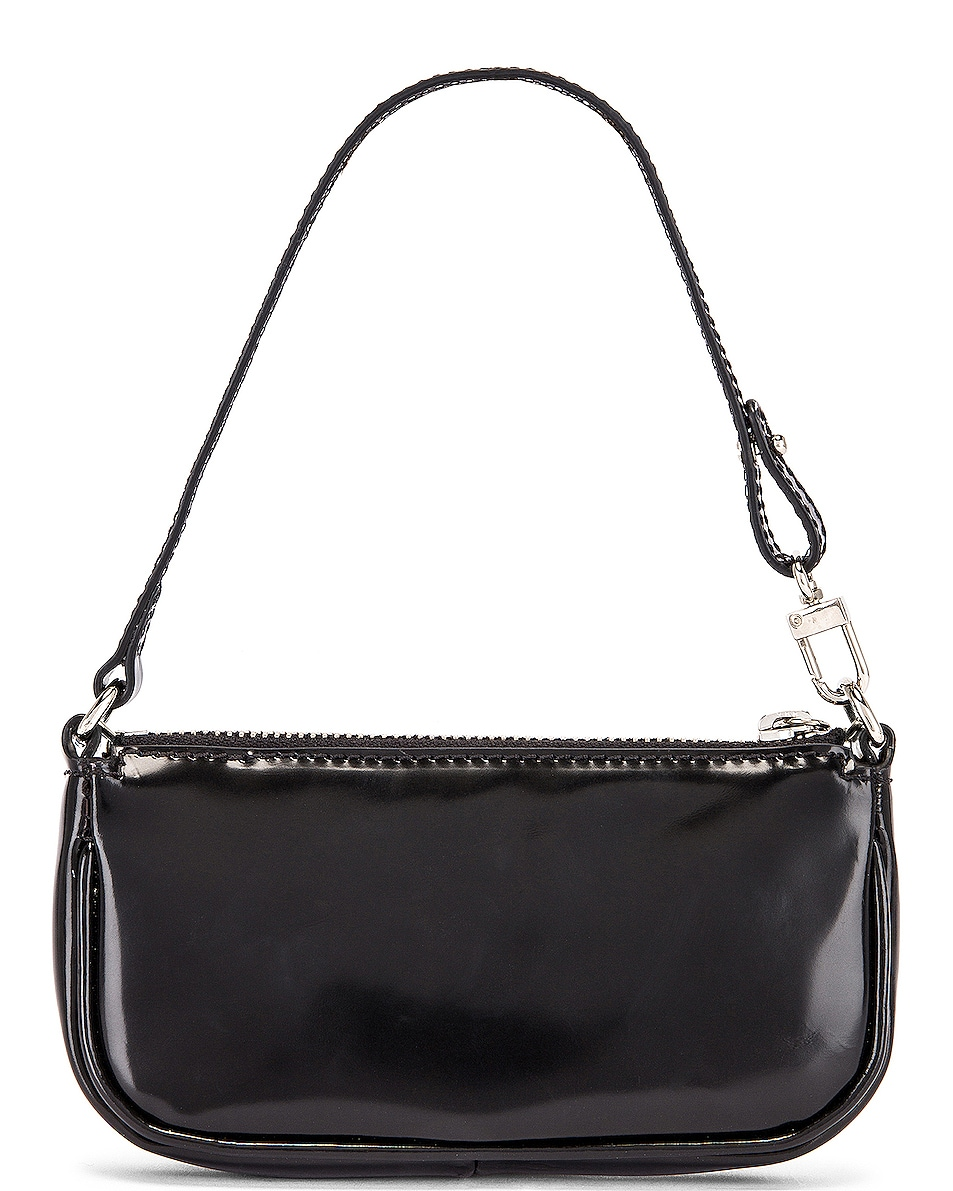 Image 3 of BY FAR Mini Rachel Semi Patent Leather Bag in Black