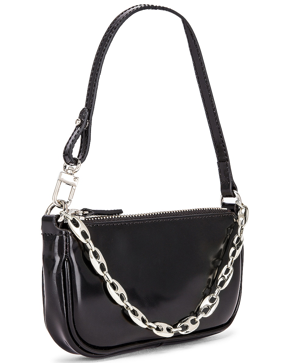 Image 4 of BY FAR Mini Rachel Semi Patent Leather Bag in Black