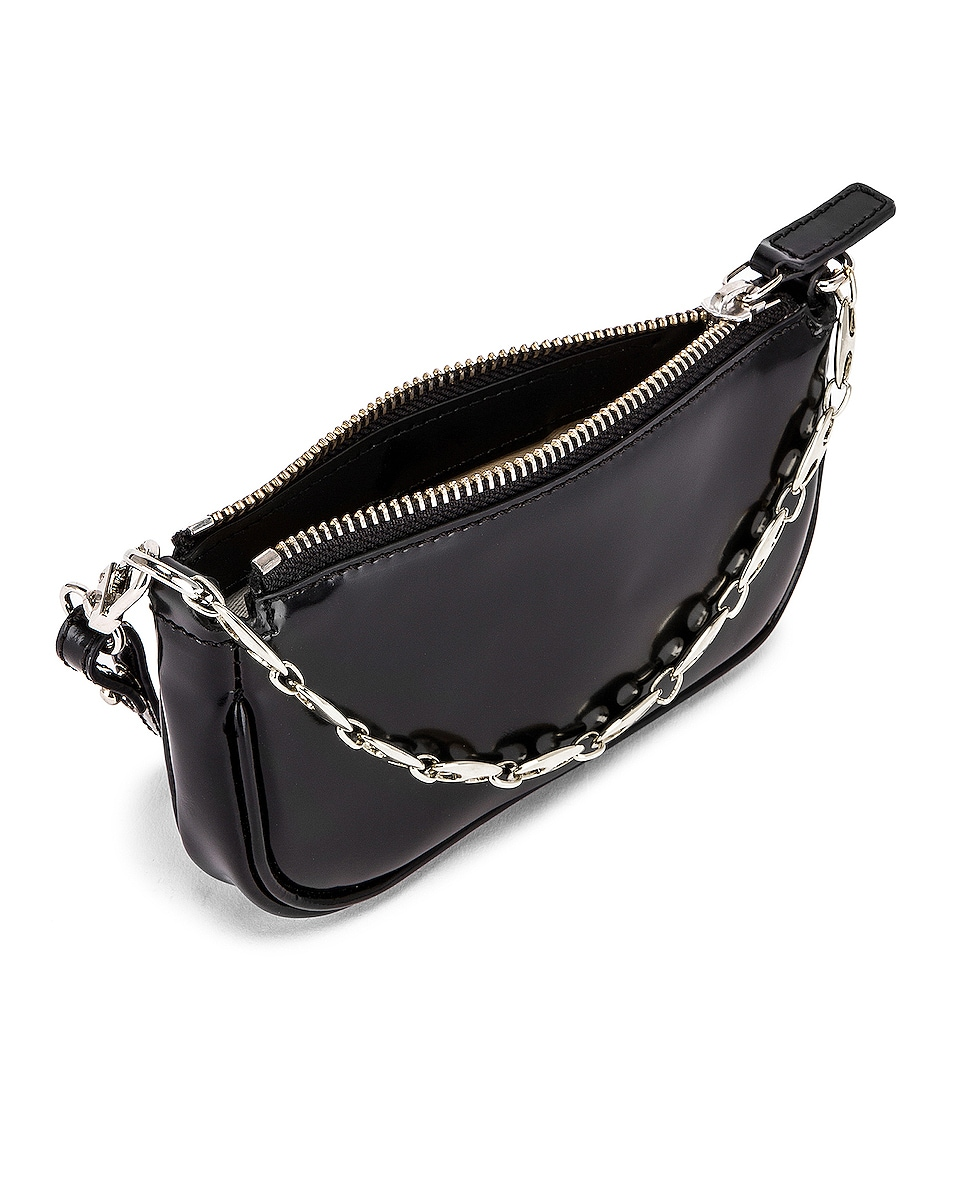 Image 5 of BY FAR Mini Rachel Semi Patent Leather Bag in Black