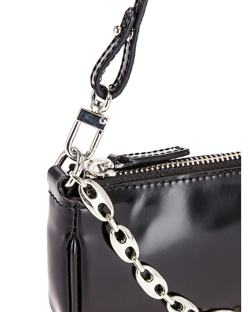 Image 7 of BY FAR Mini Rachel Semi Patent Leather Bag in Black