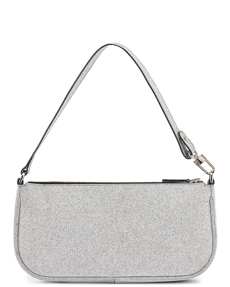 Image 3 of BY FAR Rachel Glitter Leather Bag in Silver