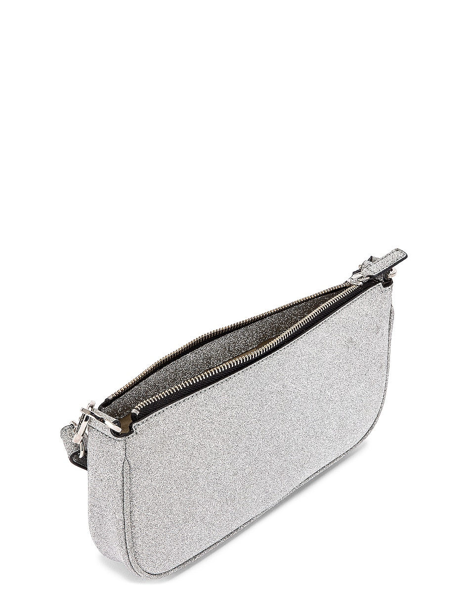 Image 5 of BY FAR Rachel Glitter Leather Bag in Silver