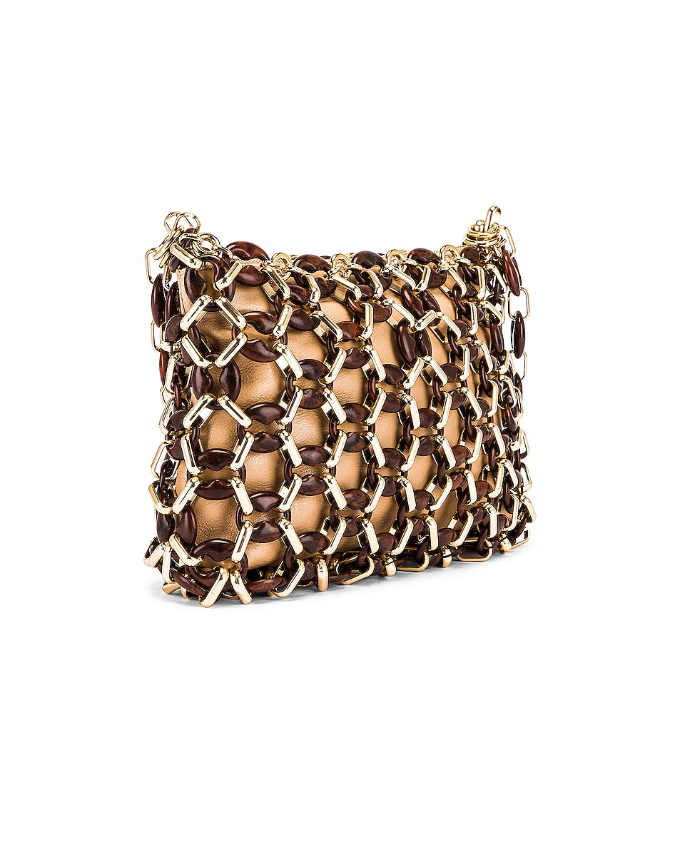 Image 4 of BY FAR Capria Leather Bag in Nude & Dark Wood