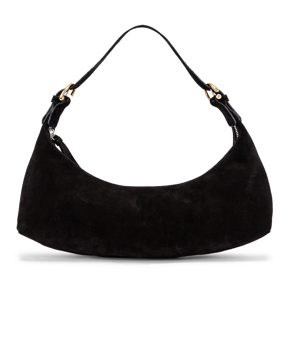 Image 1 of BY FAR Mara Suede Leather Bag in Black