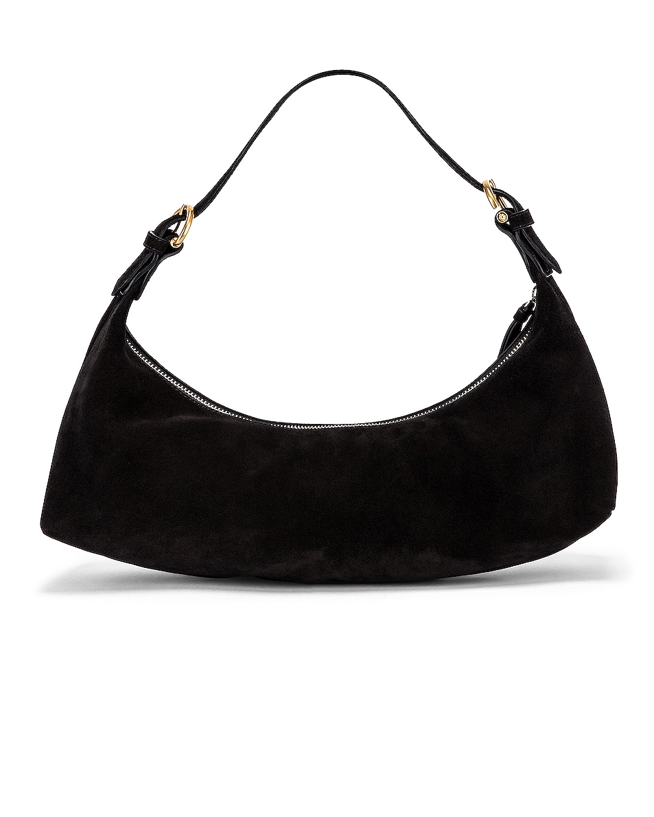 Image 3 of BY FAR Mara Suede Leather Bag in Black