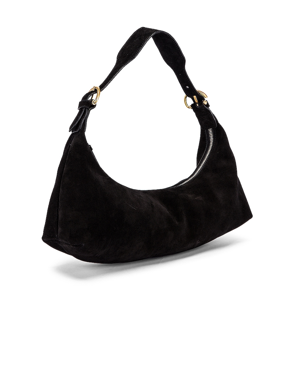Image 4 of BY FAR Mara Suede Leather Bag in Black