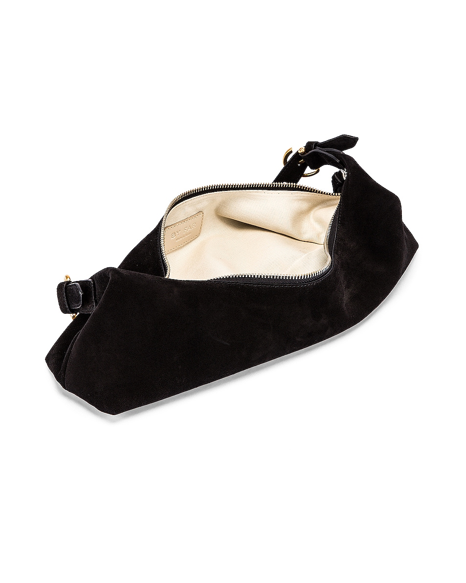 Image 5 of BY FAR Mara Suede Leather Bag in Black