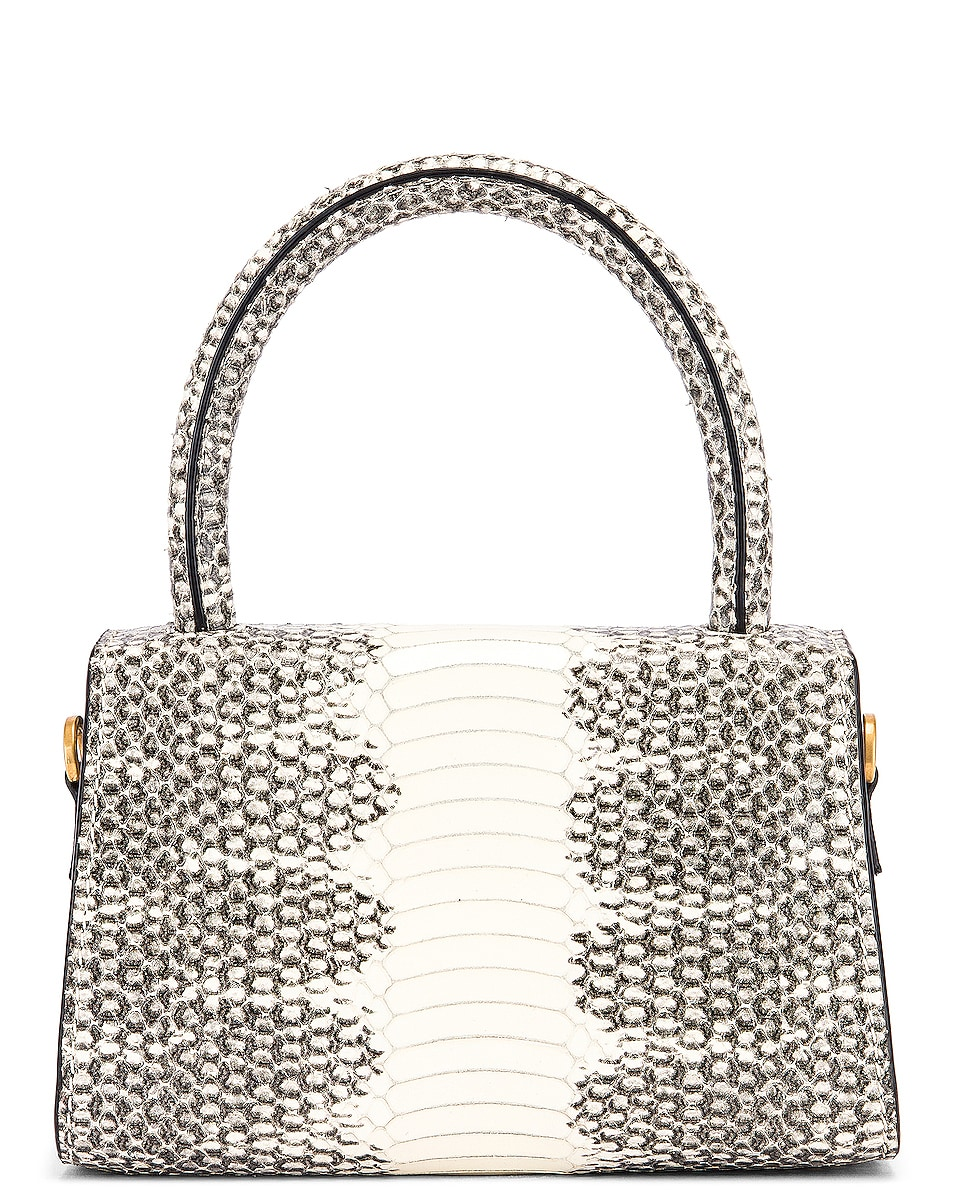 Image 3 of BY FAR Mini Snake Print Leather Bag in Graphic