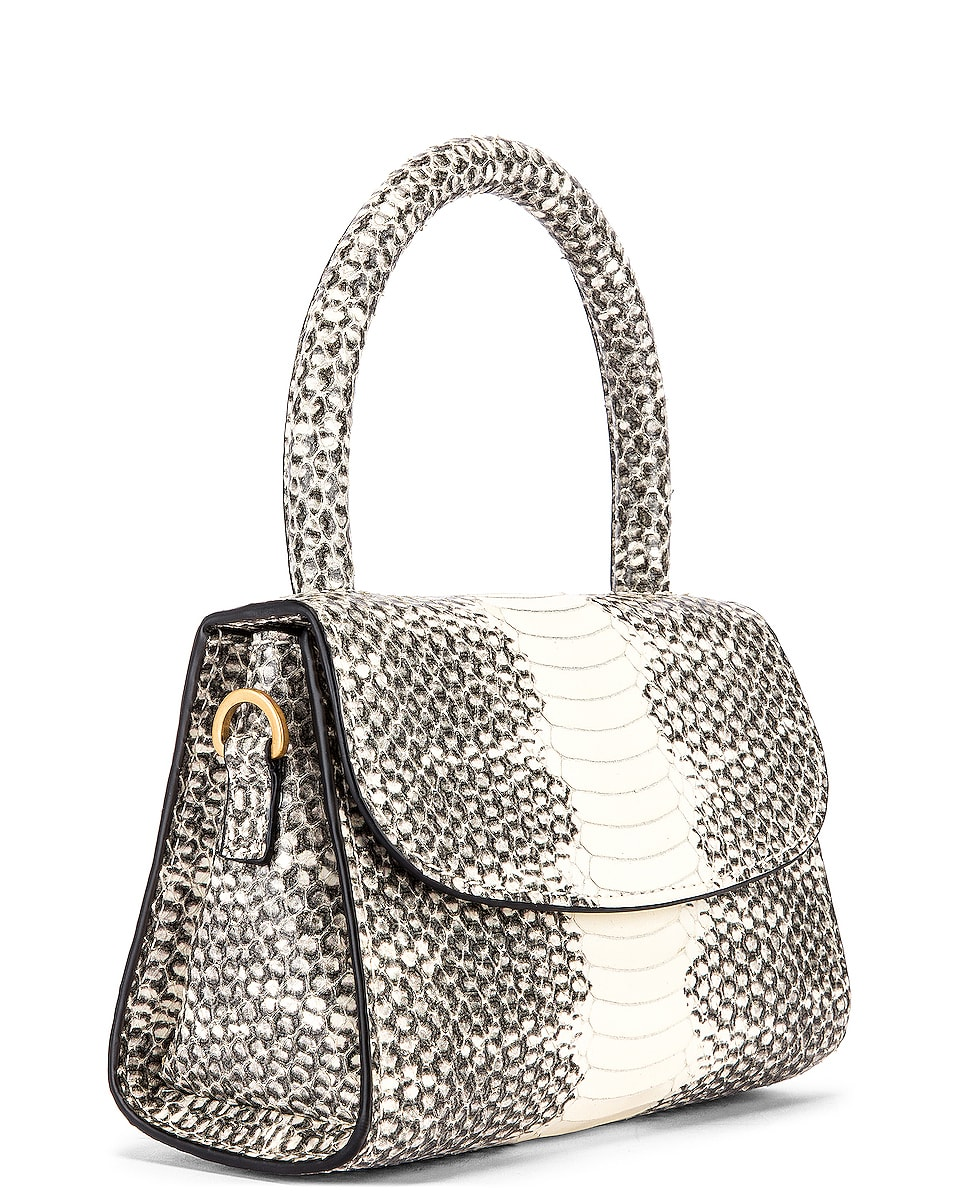 Image 4 of BY FAR Mini Snake Print Leather Bag in Graphic