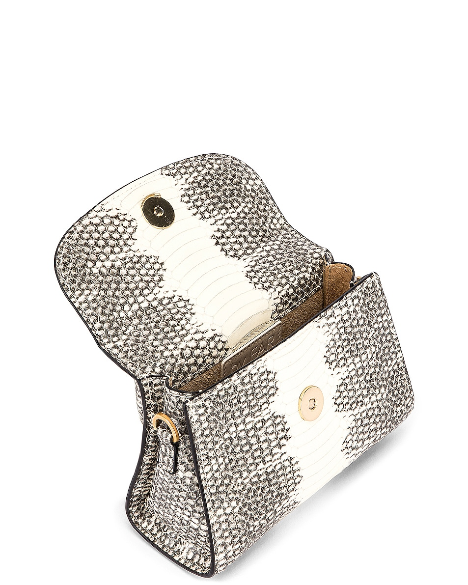 Image 5 of BY FAR Mini Snake Print Leather Bag in Graphic