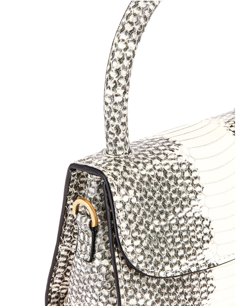 Image 8 of BY FAR Mini Snake Print Leather Bag in Graphic