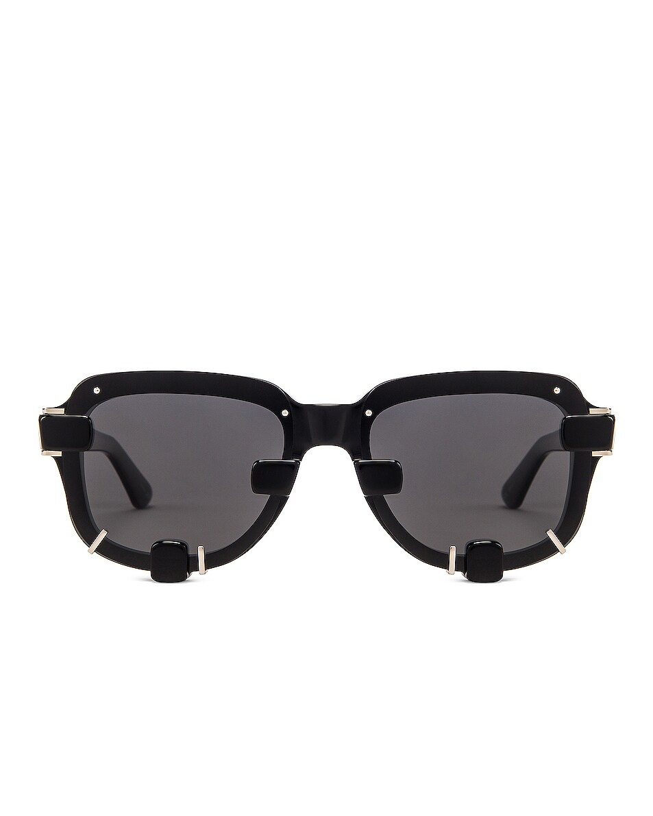 Image 1 of Y/Project Pronged Sunglasses in Black & Silver