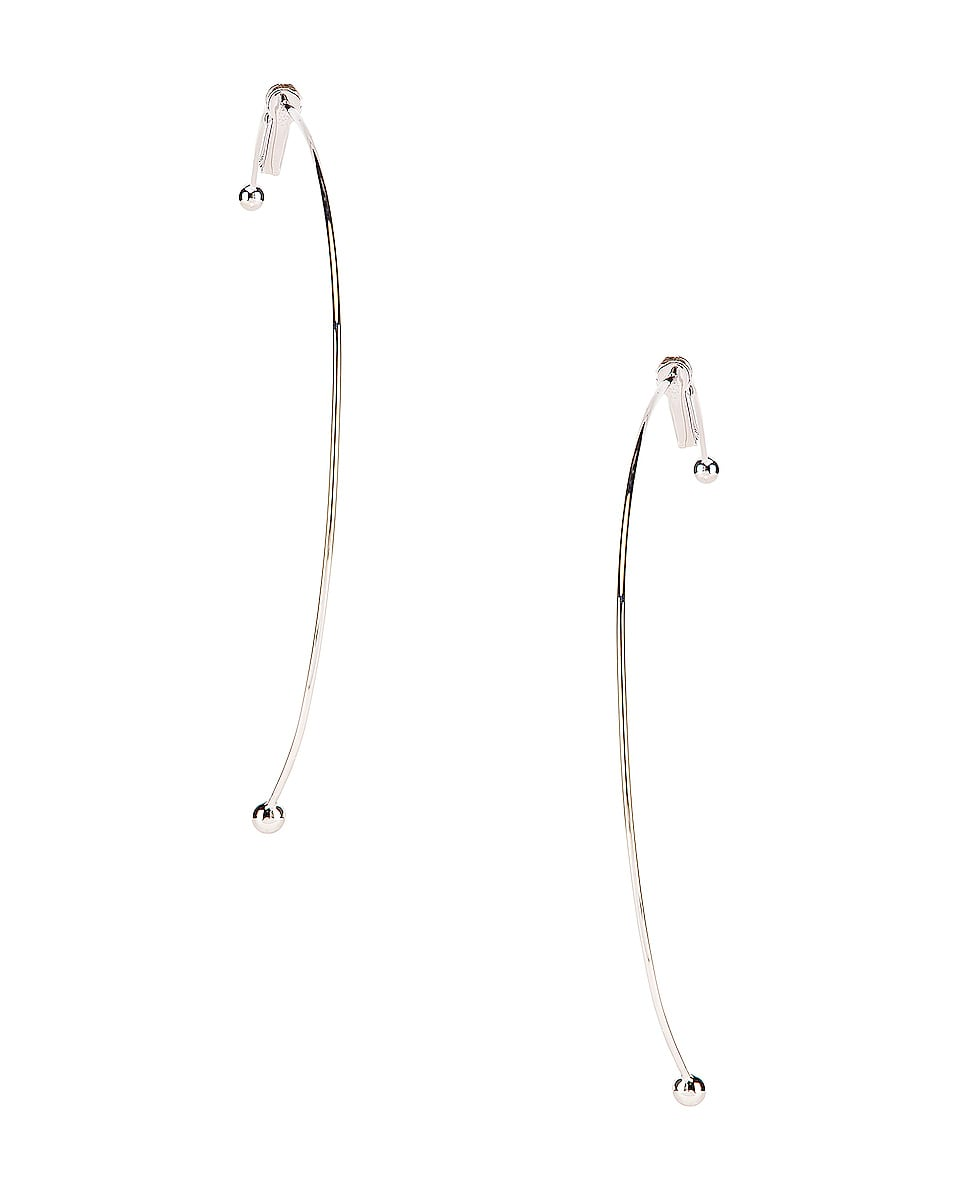 Image 3 of Y/Project Semi Hoop Earring in Silver