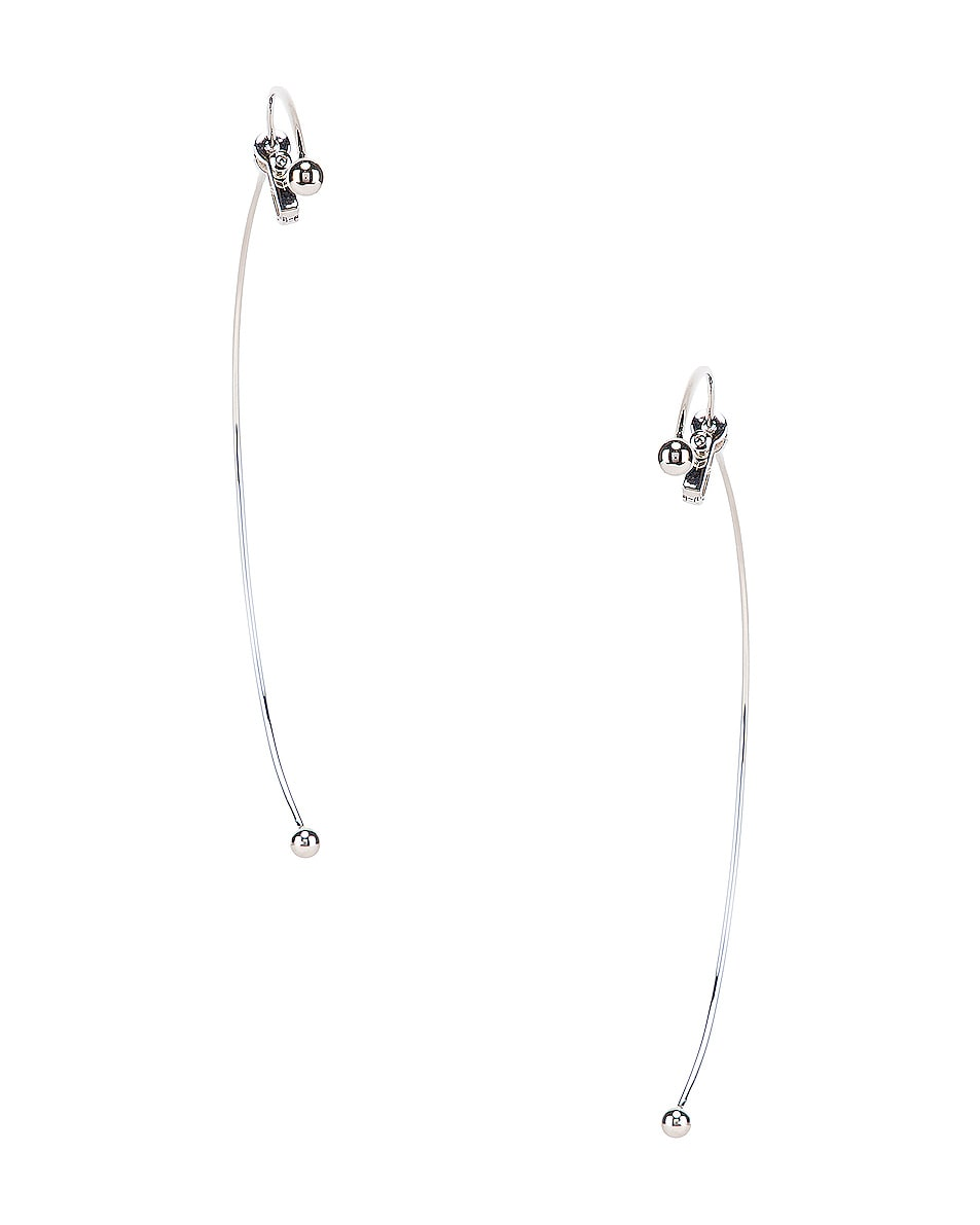 Image 4 of Y/Project Semi Hoop Earring in Silver