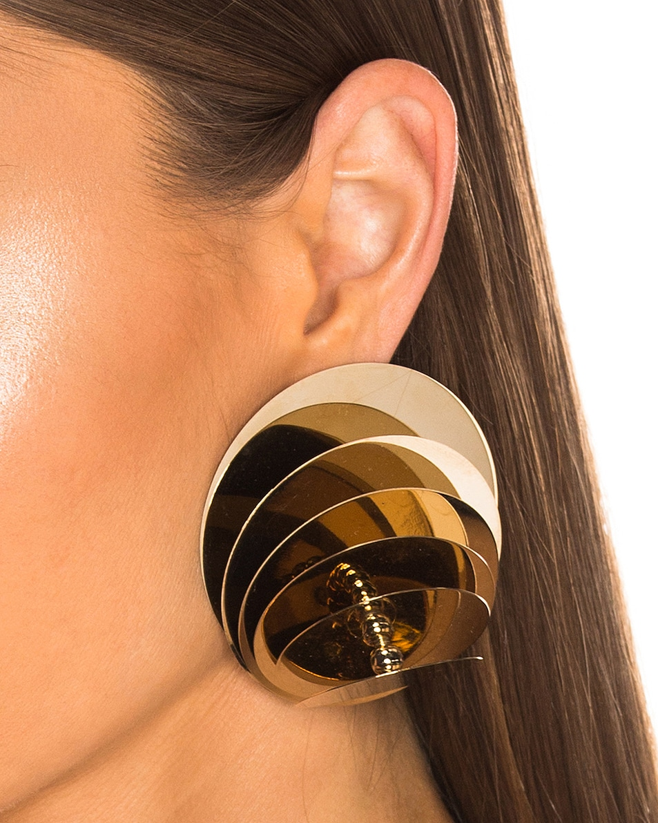 Image 2 of Y/Project Spinning Top Earrings in Gold