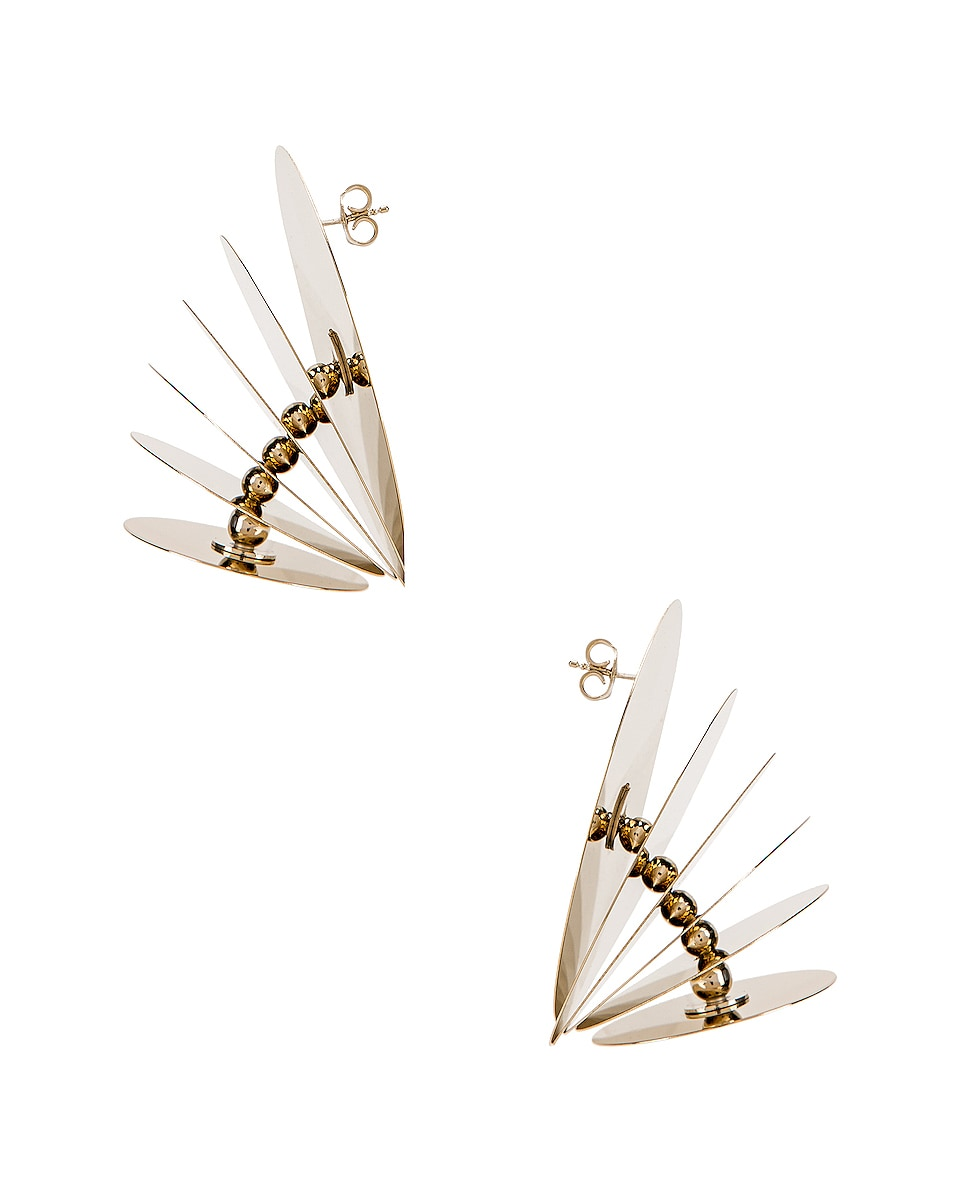 Image 3 of Y/Project Spinning Top Earrings in Gold