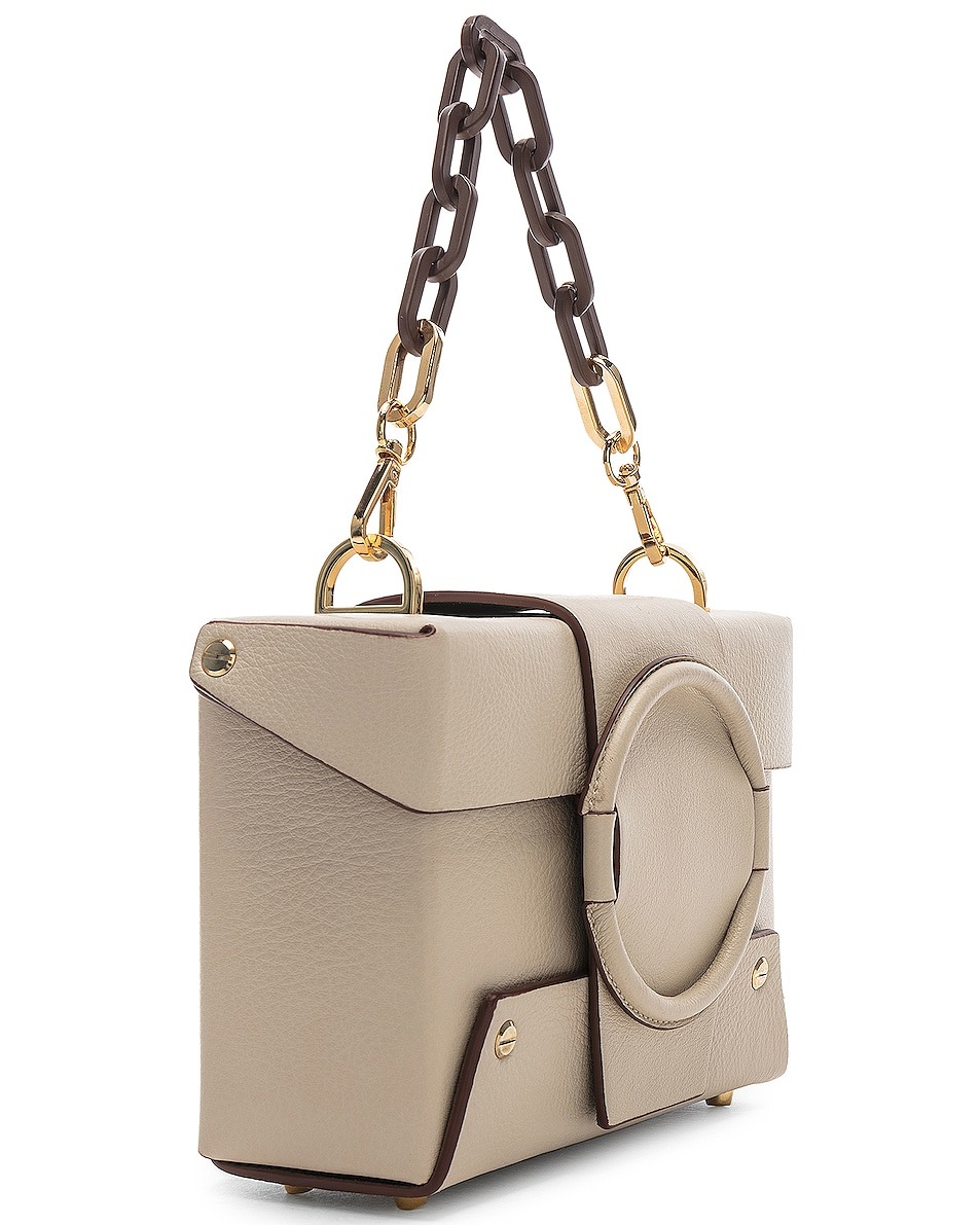 Image 4 of Yuzefi Asher Bag in Cream & Brown