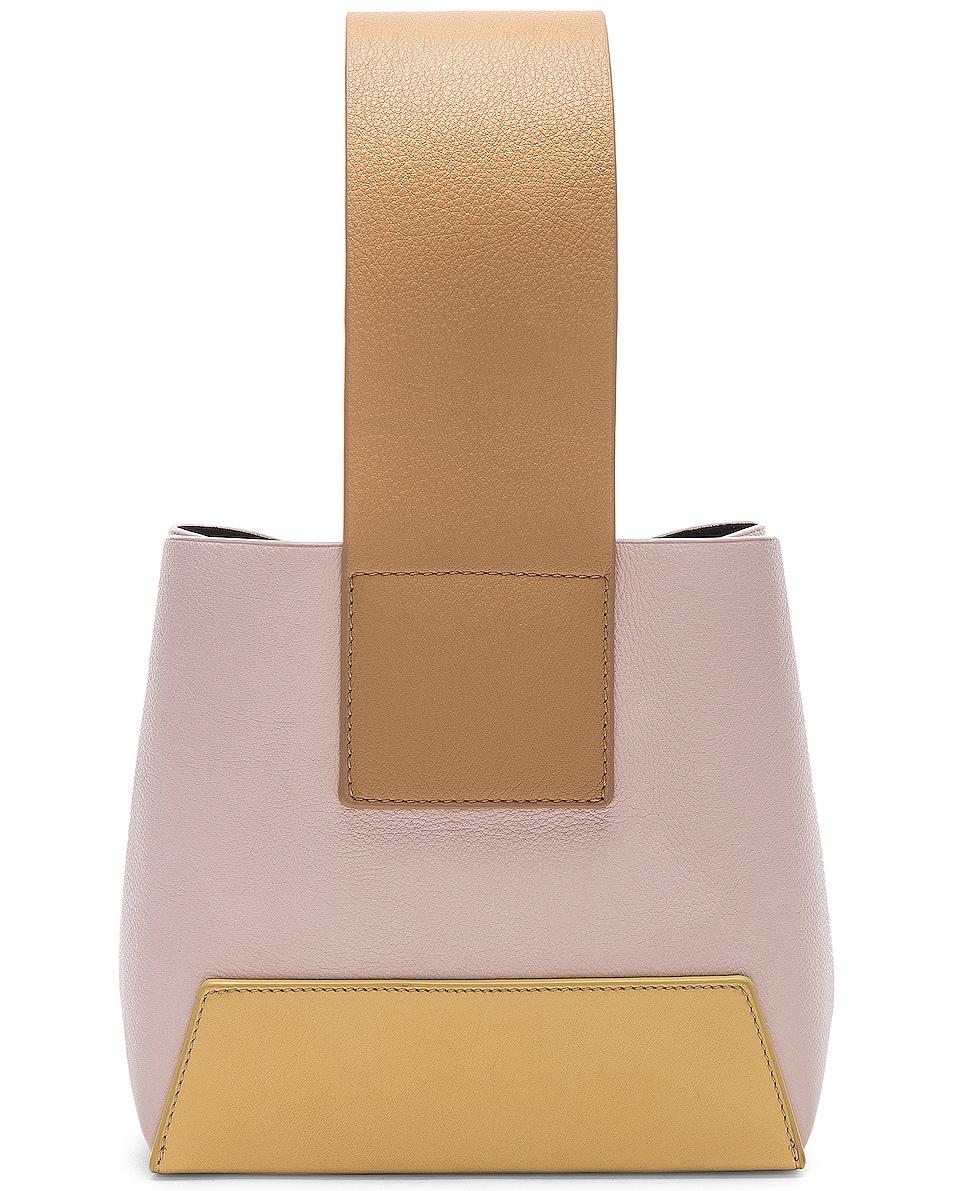 Image 2 of Yuzefi Tab Bag in Yellow & Pink