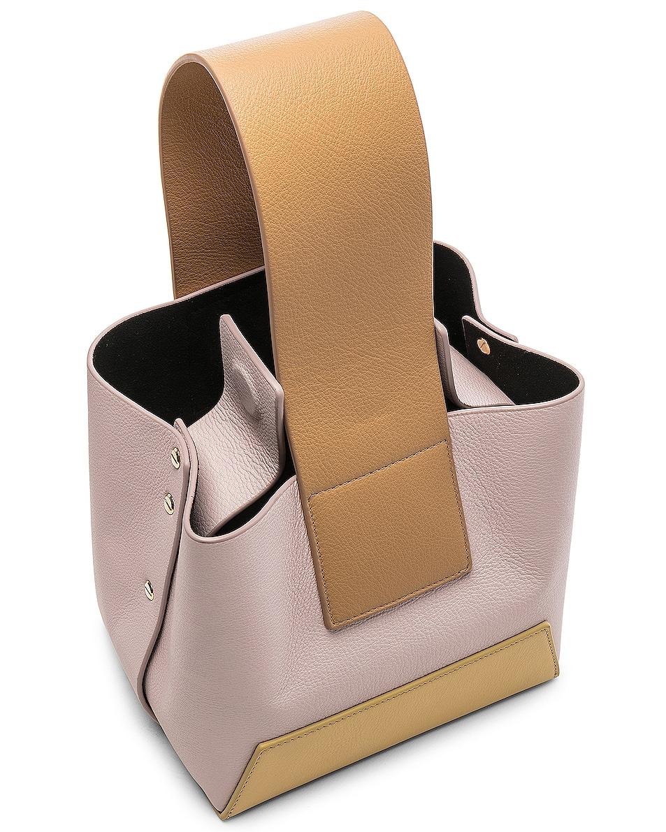 Image 4 of Yuzefi Tab Bag in Yellow & Pink