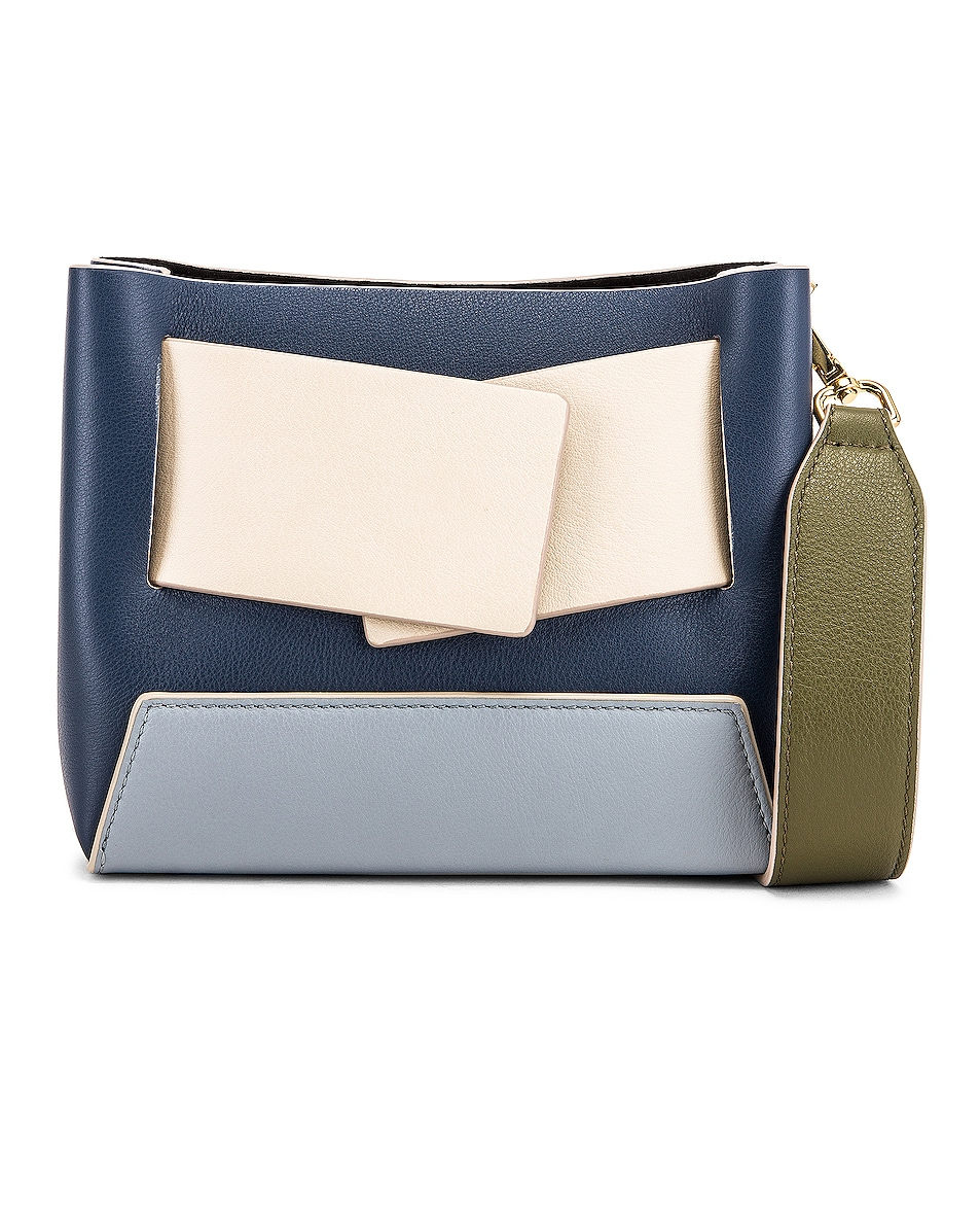 Image 1 of Yuzefi Dinky Bag in Navy & Blue