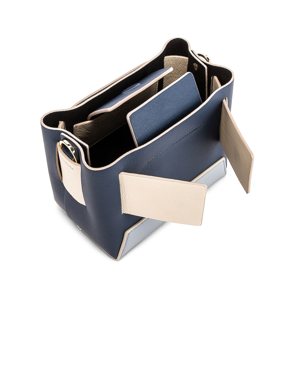 Image 5 of Yuzefi Dinky Bag in Navy & Blue