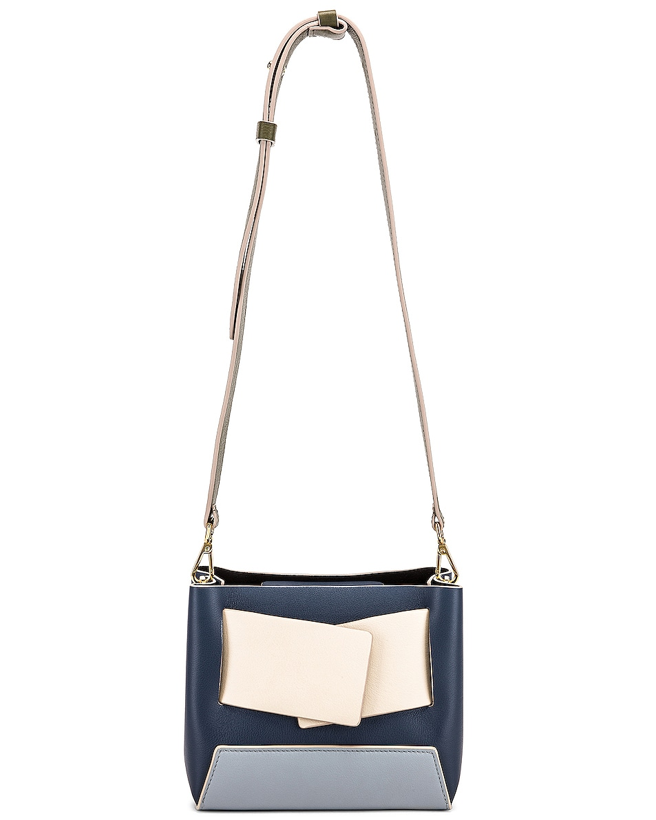 Image 6 of Yuzefi Dinky Bag in Navy & Blue