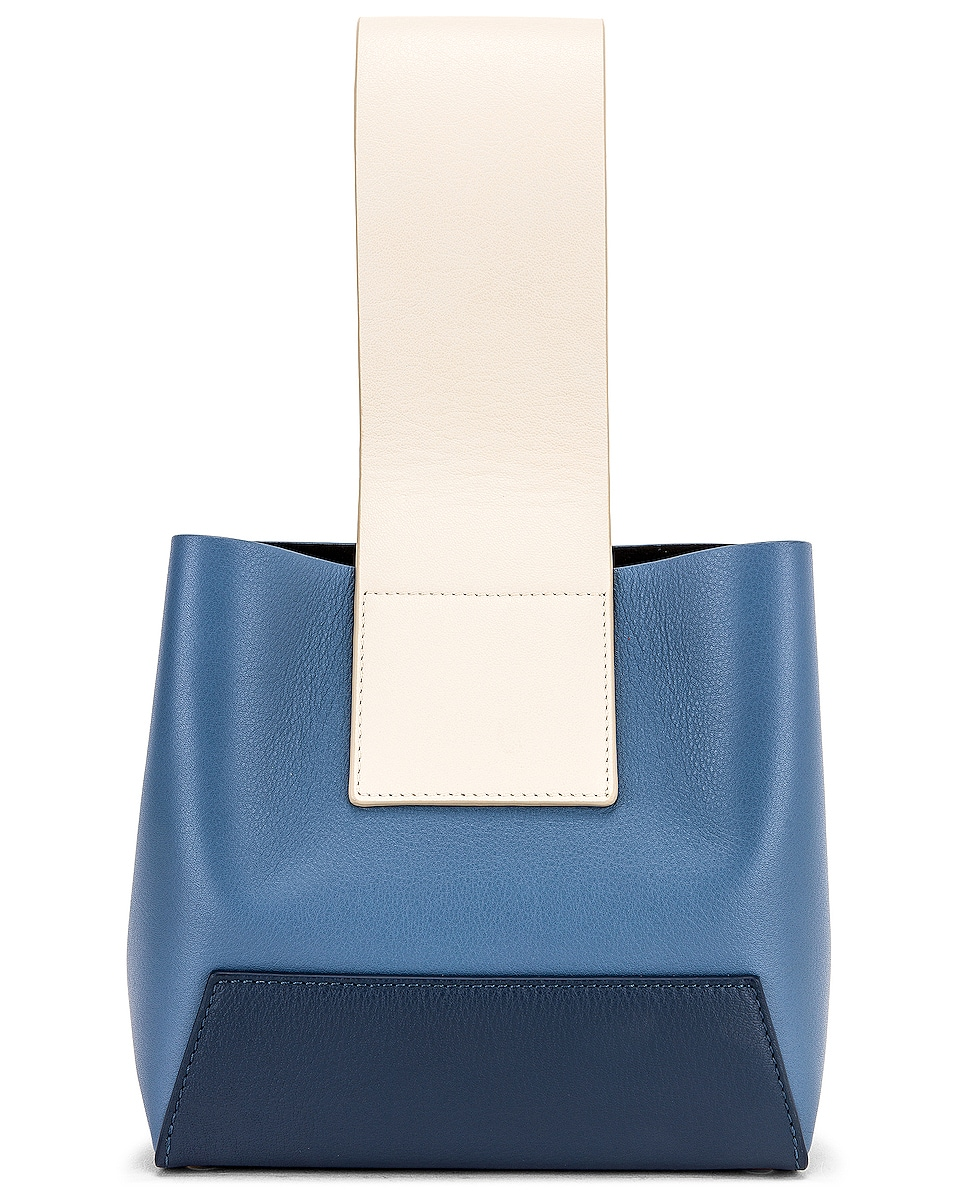 Image 1 of Yuzefi Tab Bag in Blue & Navy