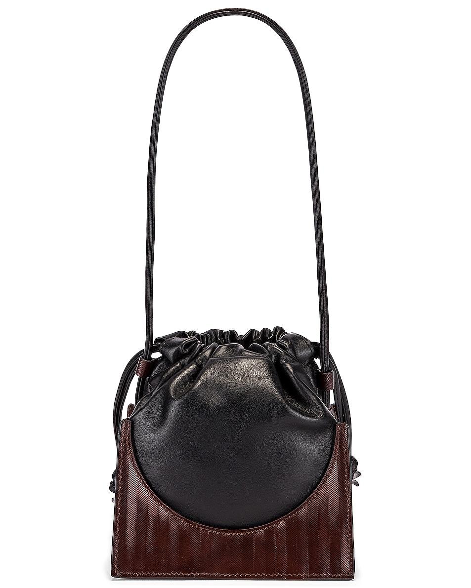 Image 3 of Yuzefi Pouchy Bag in Herringbone & Nero