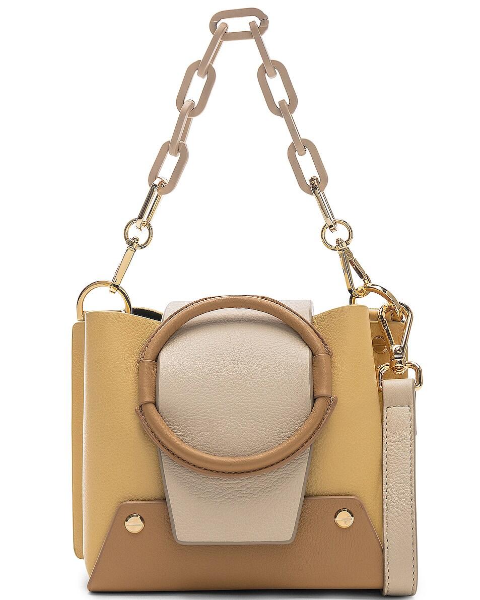 Image 1 of Yuzefi Mini Delila Bag in Apricot & Cream